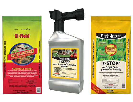 insecticides and fungicide chemicals for lawns at landscape supply store in mobile