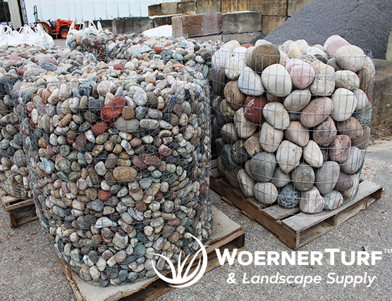 landscaping with rock pebbles